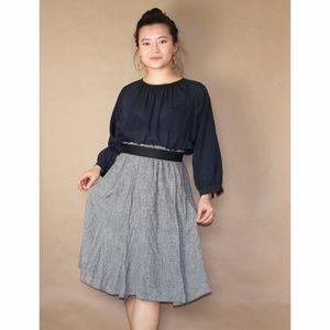 (224) zara basic houndstooth holiday midi skirt